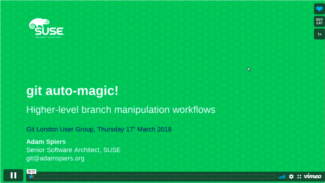 video of my talk on git auto-magic at the Git London User Group Meetup